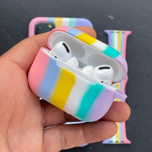کاور ایرپاد رنگین کمانی سیلیکونی هفت رنگ سری 1